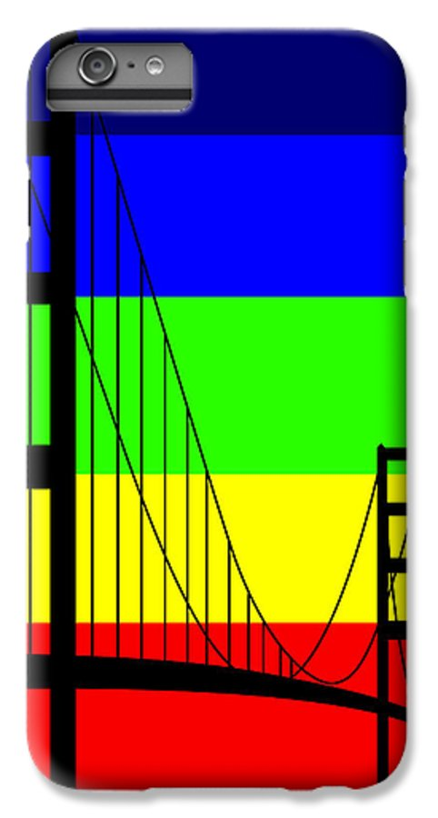 Golden Gate IPhone 7 Plus Case featuring the digital art Golden Gay by Asbjorn Lonvig
