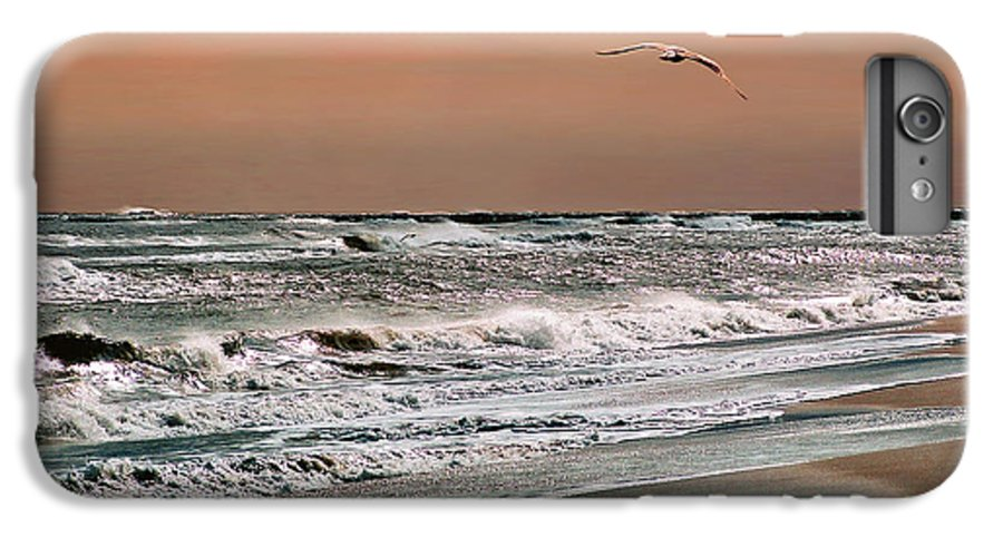 Seascape IPhone 7 Plus Case featuring the photograph Golden Shore by Steve Karol