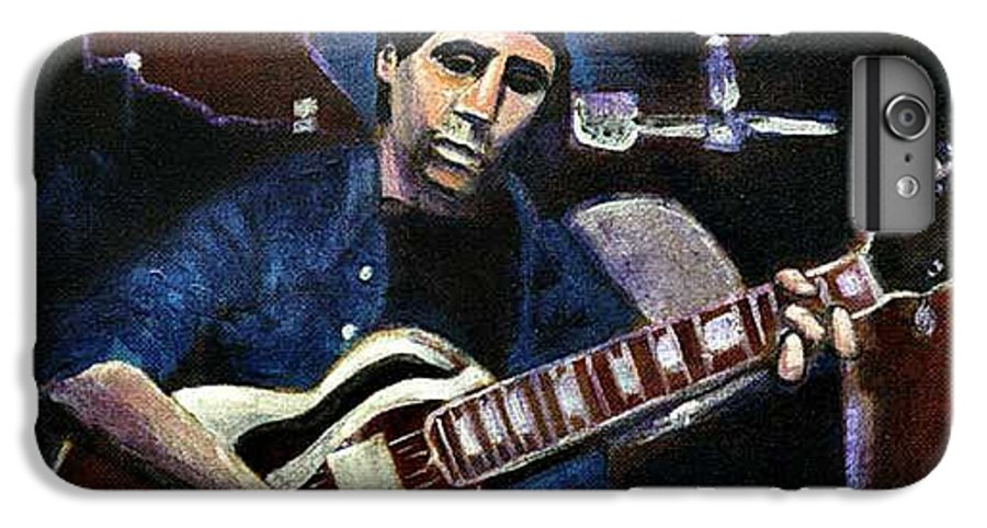 Shining Guitar IPhone 7 Plus Case featuring the painting Graceland Tribute To Paul Simon by Seth Weaver