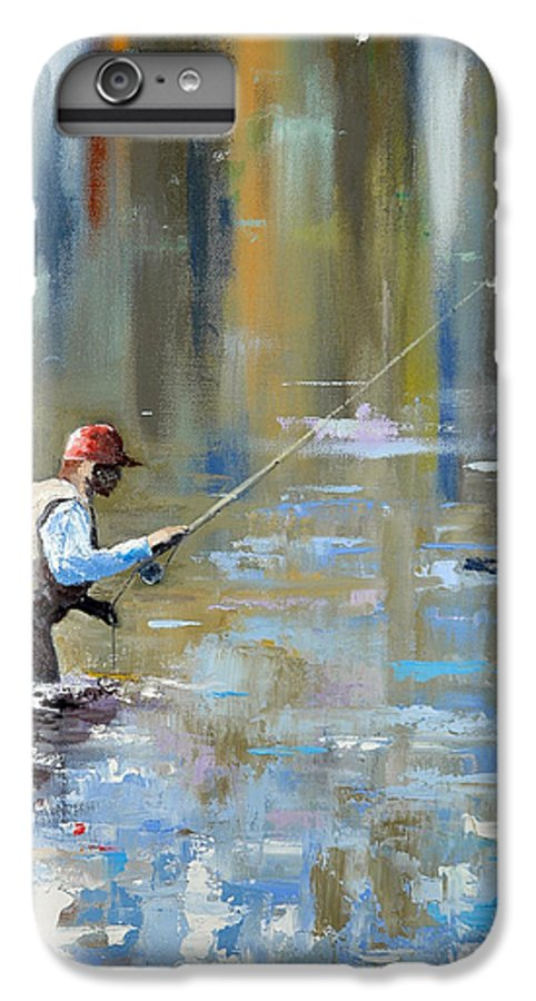 Flyfishing IPhone 7 Plus Case featuring the painting Great Expectations by Glenn Secrest