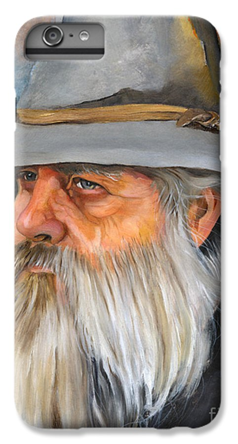 Wizard IPhone 7 Plus Case featuring the painting Grey Days by J W Baker