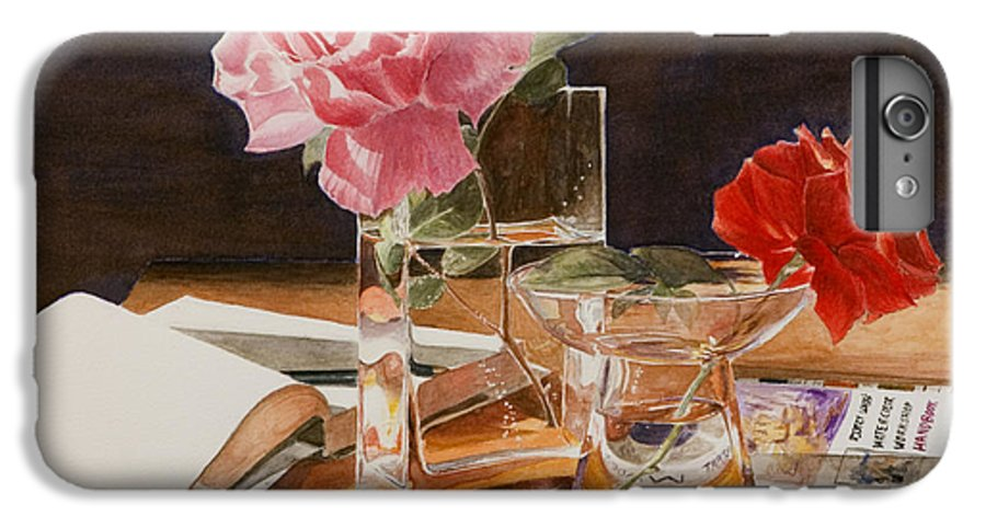 Rose IPhone 7 Plus Case featuring the painting Handbuch by Nik Helbig