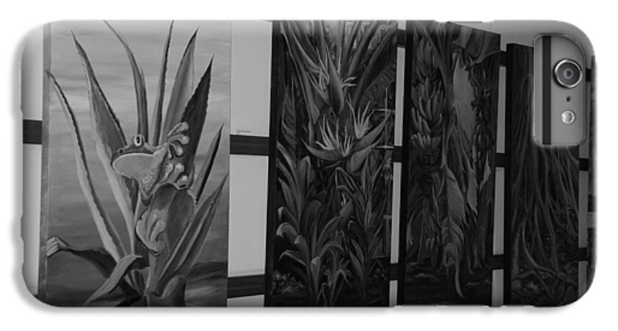 Black And White IPhone 7 Plus Case featuring the photograph Hanging Art by Rob Hans