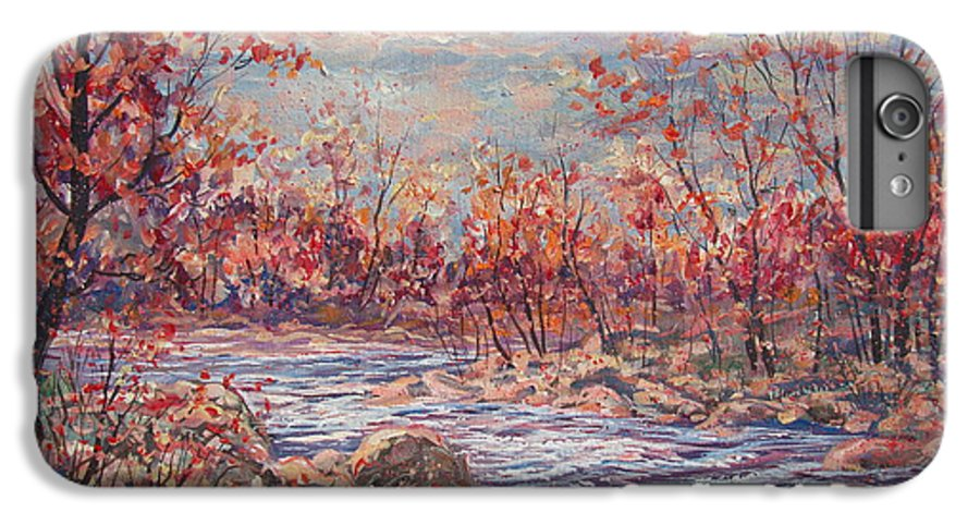 Landscape IPhone 7 Plus Case featuring the painting Happy Autumn Days. by Leonard Holland