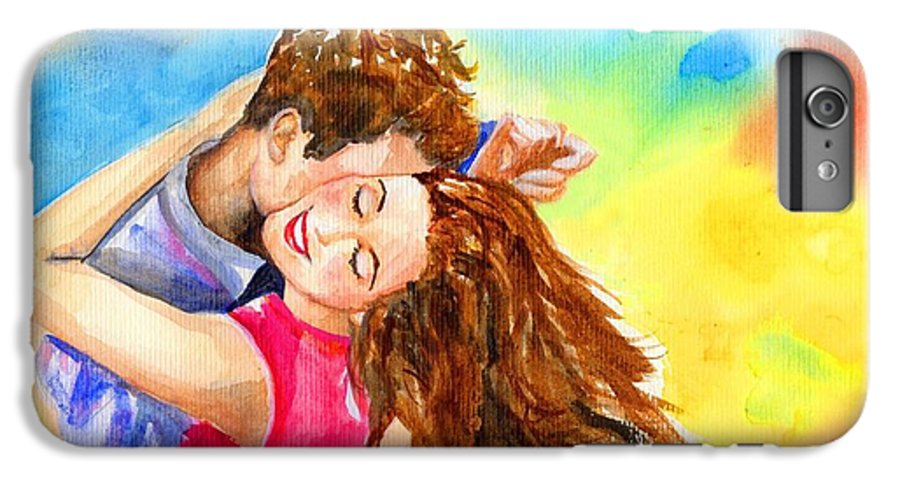 Cheerful IPhone 7 Plus Case featuring the painting Happy Dance by Laura Rispoli