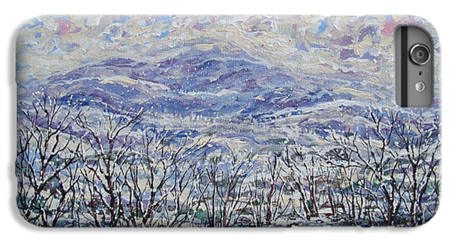 Landscape IPhone 7 Plus Case featuring the painting Happy Winter. by Leonard Holland