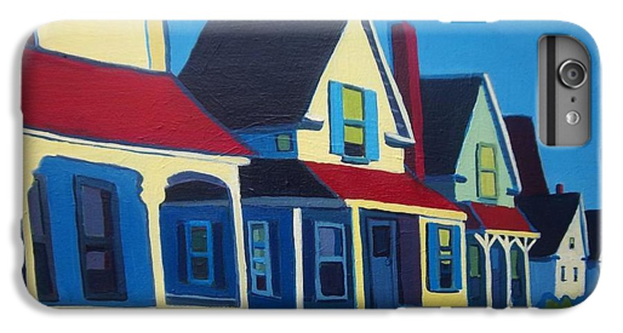 Maine IPhone 7 Plus Case featuring the painting Harpswell Cottages by Debra Bretton Robinson