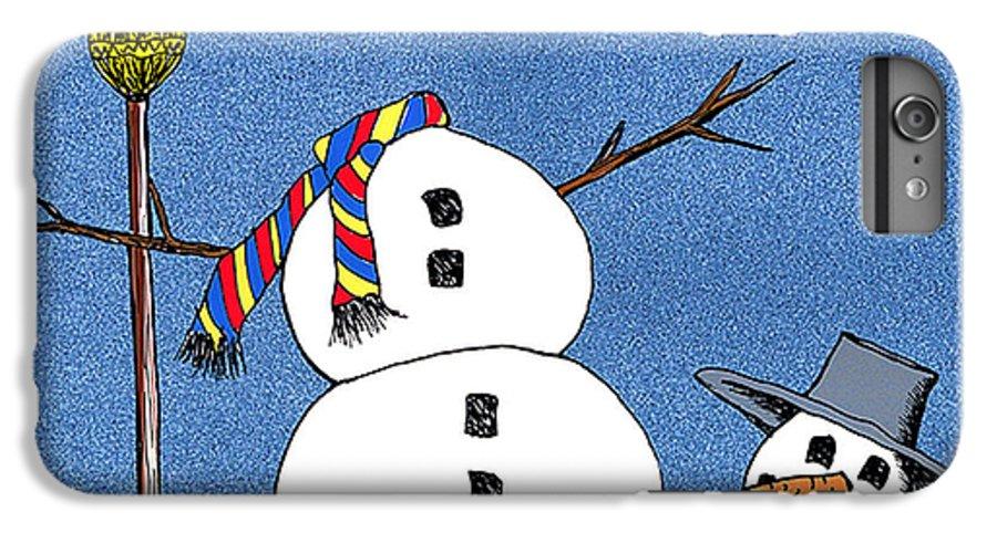 Snowman IPhone 7 Plus Case featuring the digital art Headless Snowman by Nancy Mueller