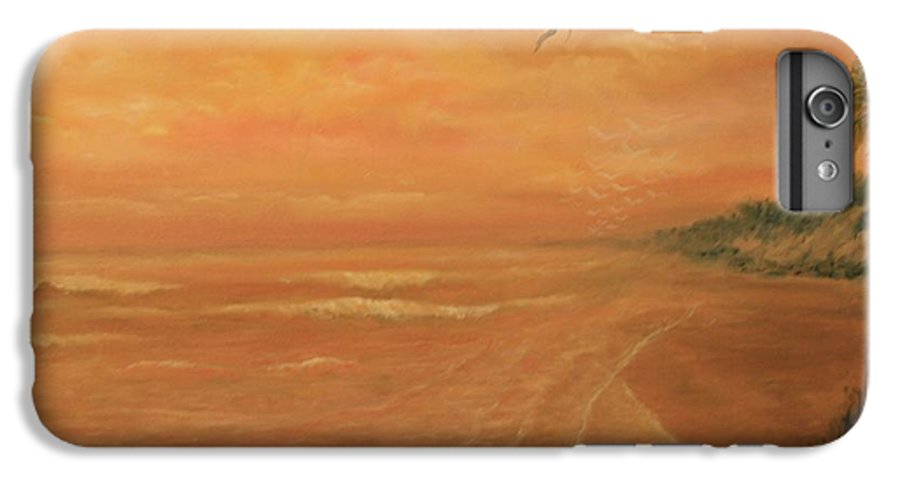 Beach; Ocean; Palm Trees; Water IPhone 7 Plus Case featuring the painting High Tide by Ben Kiger