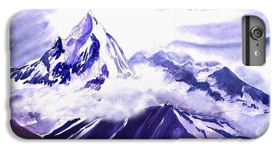 Landscape IPhone 7 Plus Case featuring the painting Himalaya by Anil Nene