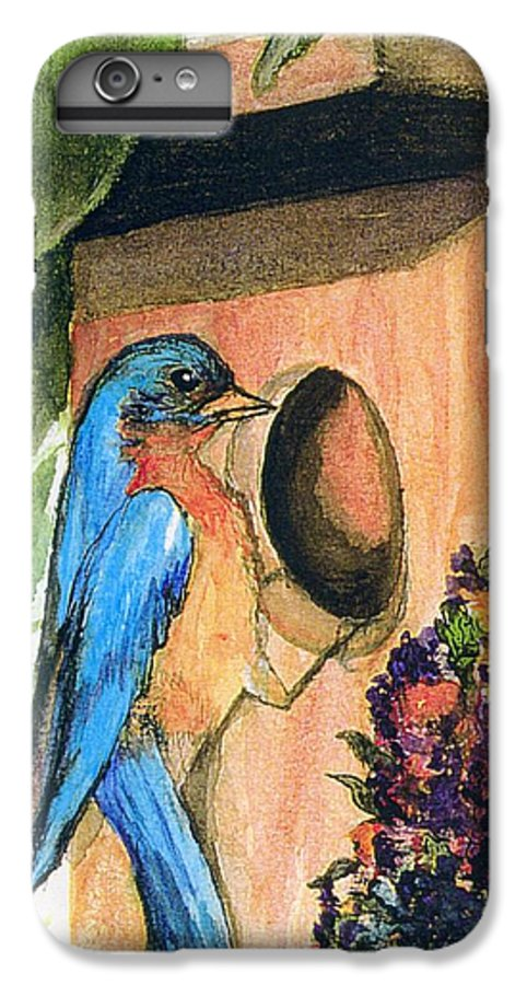Bluebirds IPhone 7 Plus Case featuring the painting Home Sweet Home by Gail Kirtz