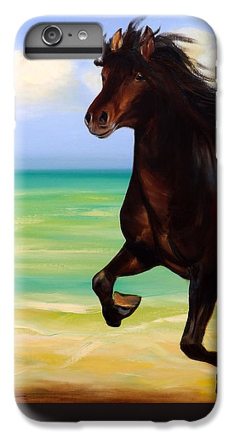 Horses IPhone 7 Plus Case featuring the painting Horses In Paradise Run by Gina De Gorna