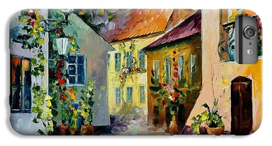 Landscape IPhone 7 Plus Case featuring the painting Hot Noon Original Oil Painting by Leonid Afremov