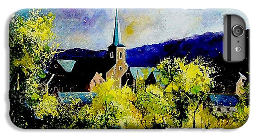 Poppies IPhone 7 Plus Case featuring the painting Hour Village Belgium by Pol Ledent