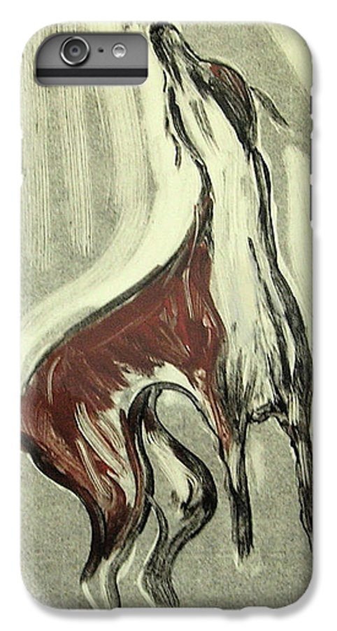 Monotype IPhone 7 Plus Case featuring the mixed media Howling For Joy by Cori Solomon