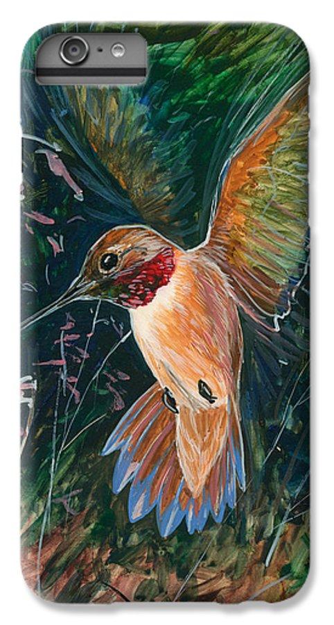 Hummingbird IPhone 7 Plus Case featuring the painting Hummingbird by Shari Erickson