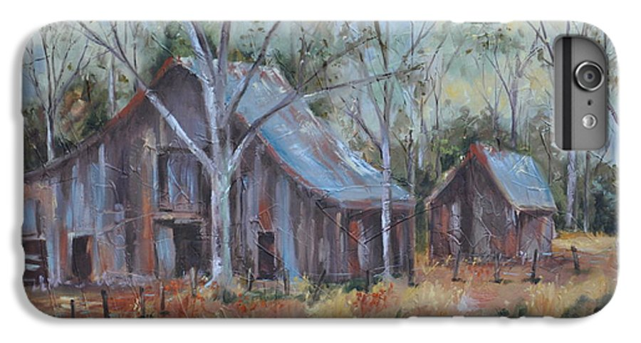 Barns IPhone 7 Plus Case featuring the painting If They Could Speak by Ginger Concepcion