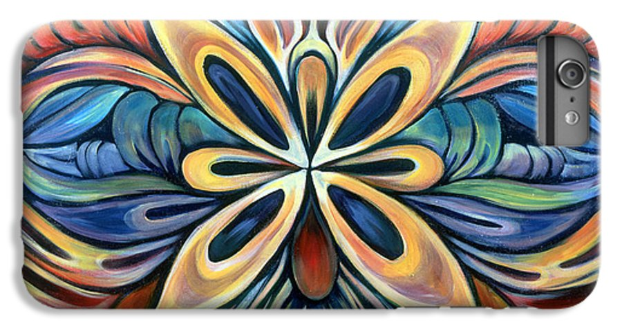 Mandala IPhone 7 Plus Case featuring the painting Illumination by Shadia Derbyshire