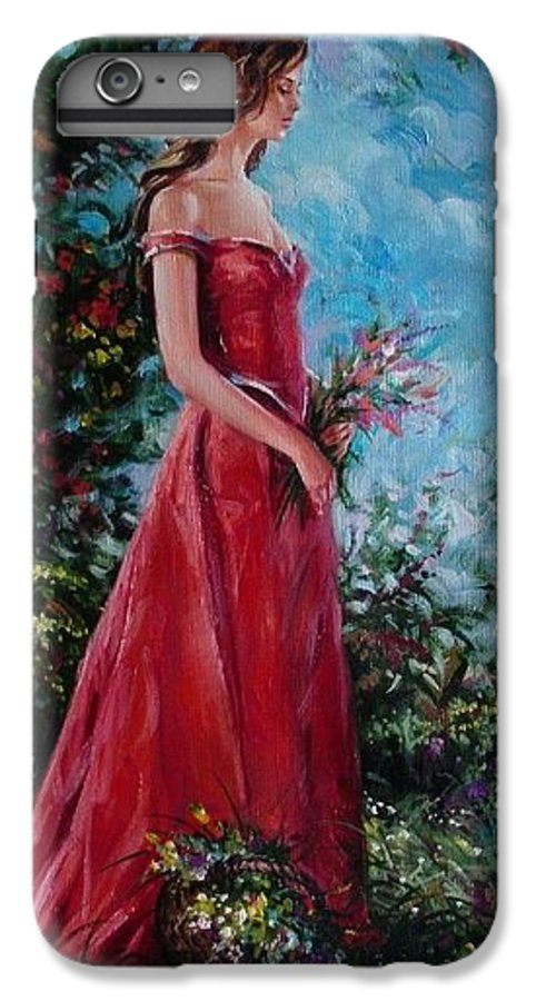 Figurative IPhone 7 Plus Case featuring the painting In Summer Garden by Sergey Ignatenko