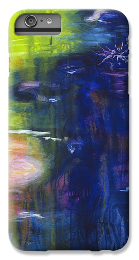 Abstract IPhone 7 Plus Case featuring the painting In The Flow by Tara Moorman