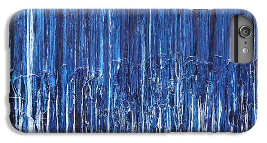 Fusionart IPhone 7 Plus Case featuring the painting Indigo Soul by Ralph White