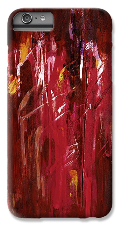 Abstract IPhone 7 Plus Case featuring the painting Initiation by Tara Moorman