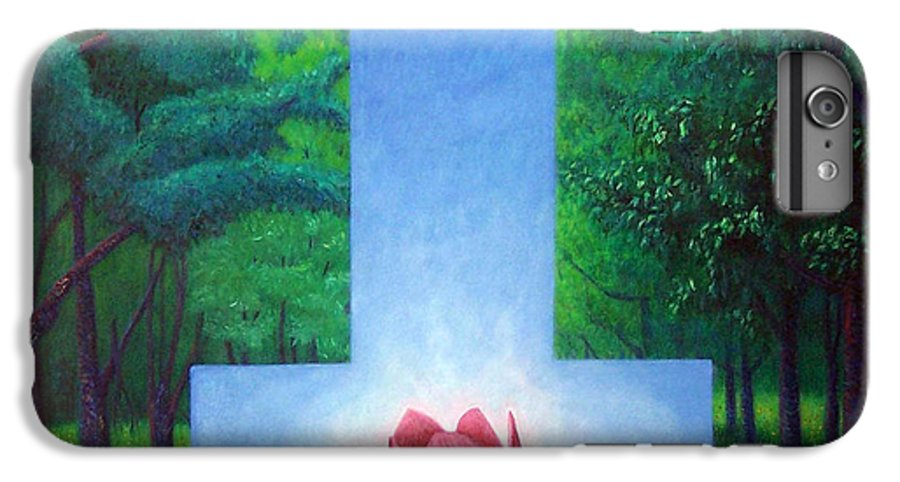 Spiritual IPhone 7 Plus Case featuring the painting Inner Bliss by Brian Commerford