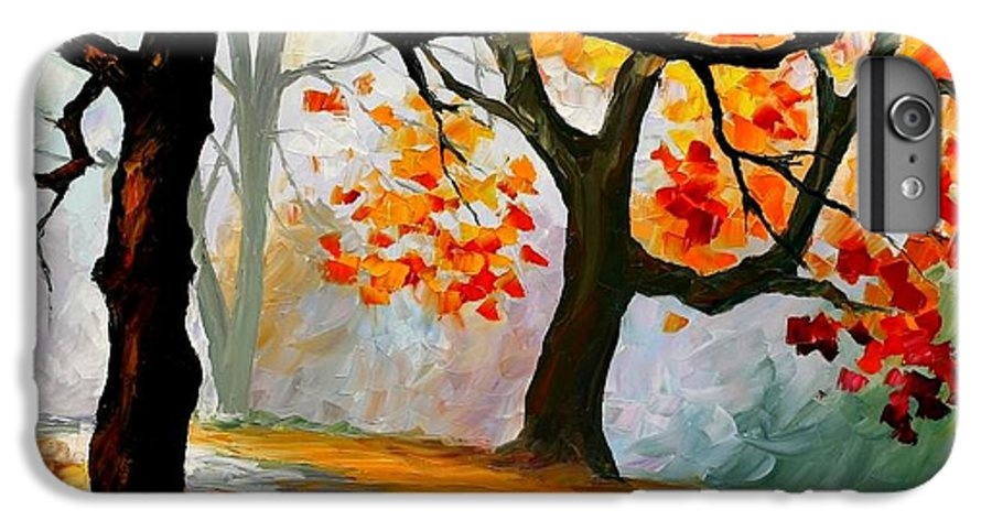 Landscape IPhone 7 Plus Case featuring the painting Interplacement by Leonid Afremov