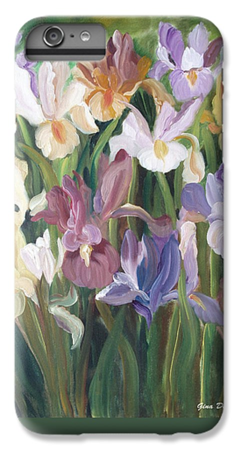 Irises IPhone 7 Plus Case featuring the painting Irises by Gina De Gorna
