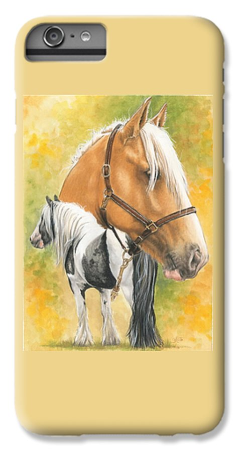 Draft Horse IPhone 7 Plus Case featuring the mixed media Irish Cob by Barbara Keith