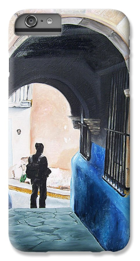 Archway IPhone 7 Plus Case featuring the painting Ivan In The Street by Laura Pierre-Louis