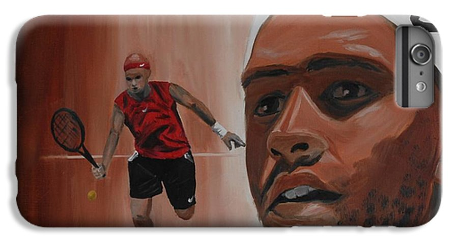 James IPhone 7 Plus Case featuring the painting James Blake by Quwatha Valentine