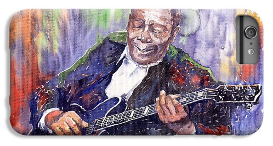 Jazz IPhone 7 Plus Case featuring the painting Jazz B B King 06 by Yuriy Shevchuk