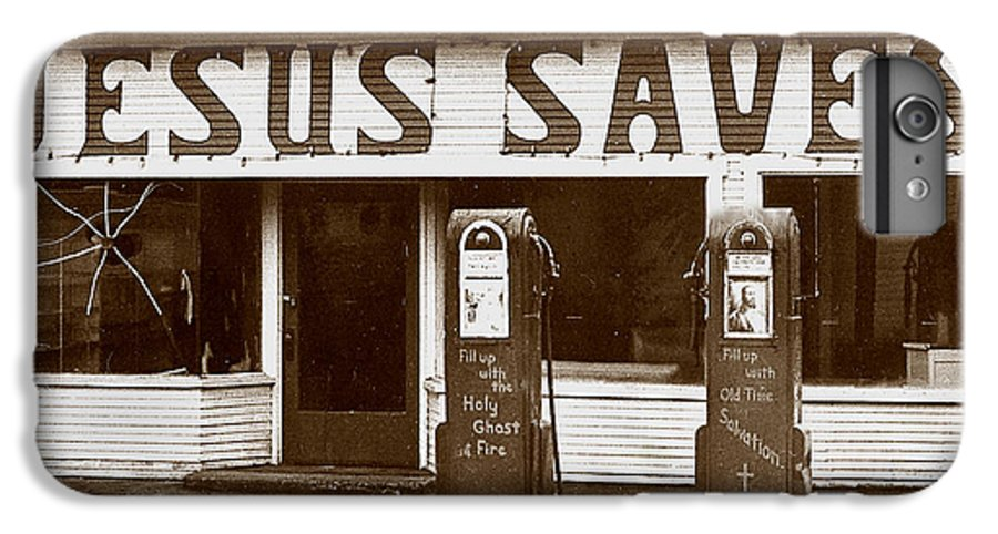 Jesus IPhone 7 Plus Case featuring the photograph Jesus Saves 1973 by Michael Ziegler
