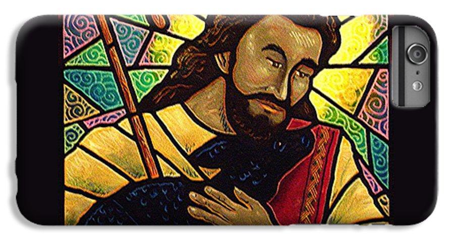 Jesus IPhone 7 Plus Case featuring the painting Jesus The Good Shepherd by Jim Harris