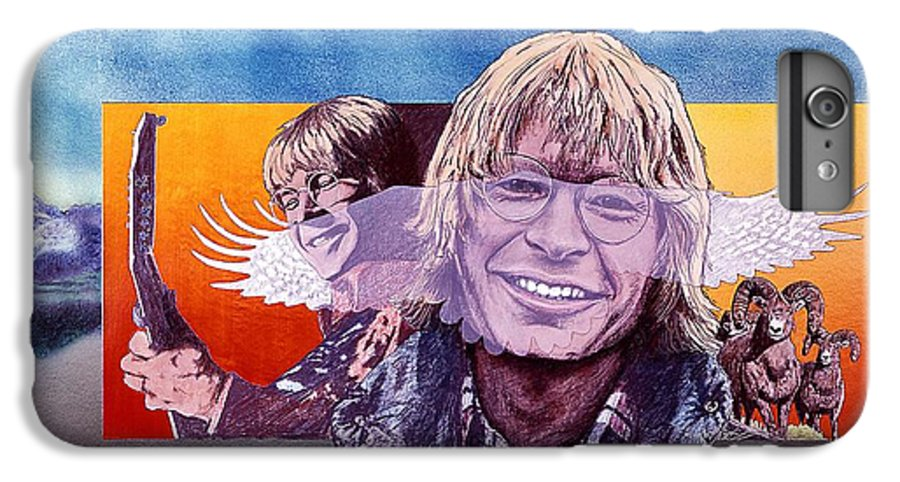 John Denver IPhone 7 Plus Case featuring the mixed media John Denver by John D Benson