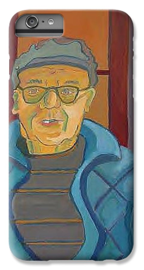 Portrait IPhone 7 Plus Case featuring the painting John Paris by Debra Bretton Robinson