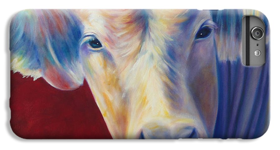 Bull IPhone 7 Plus Case featuring the painting Jorge by Shannon Grissom