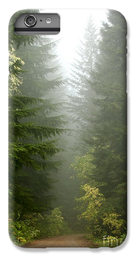 Forest IPhone 7 Plus Case featuring the photograph Journey Through The Fog by Idaho Scenic Images Linda Lantzy