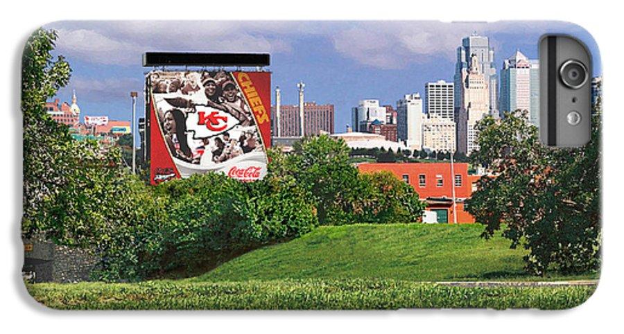 Landscape IPhone 7 Plus Case featuring the photograph Kansas City Sky Line by Steve Karol