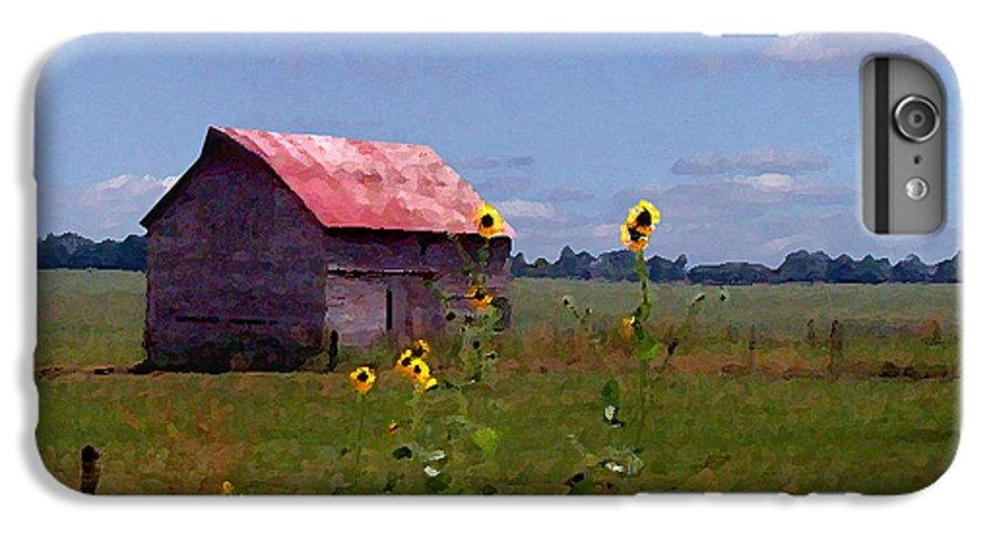 Landscape IPhone 7 Plus Case featuring the photograph Kansas Landscape by Steve Karol