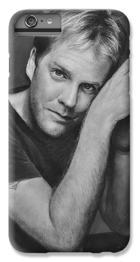 Portraits IPhone 7 Plus Case featuring the drawing Kiefer Sutherland by Iliyan Bozhanov