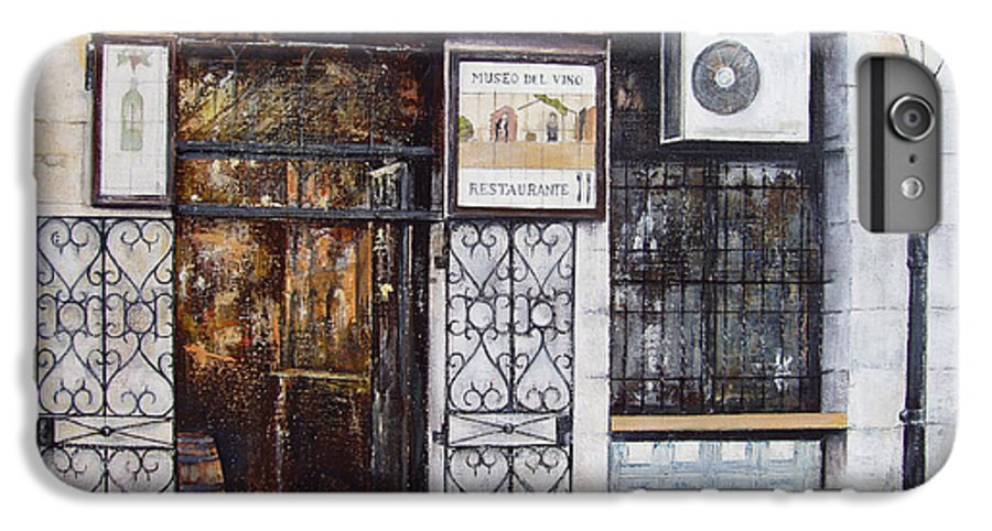 Bodega IPhone 7 Plus Case featuring the painting La Cigalena Old Restaurant by Tomas Castano