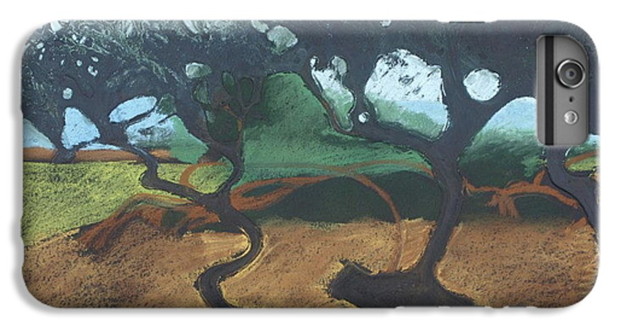 Contemporary Tree Landscape IPhone 7 Plus Case featuring the drawing La Jolla I by Leah Tomaino