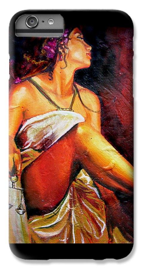 Law Art IPhone 7 Plus Case featuring the painting Lady Justice Mini by Laura Pierre-Louis