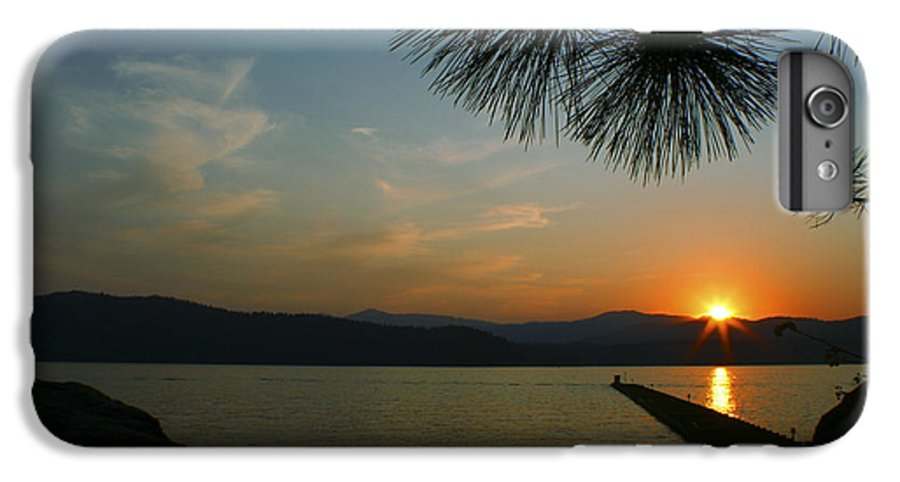 Sunset IPhone 7 Plus Case featuring the photograph Lake Sunset by Idaho Scenic Images Linda Lantzy