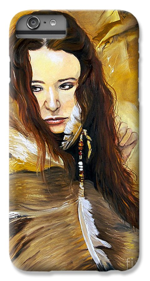 Southwest Art IPhone 7 Plus Case featuring the painting Lament by J W Baker