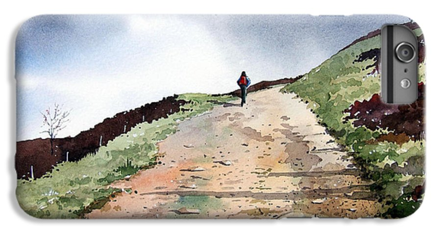 Landscape IPhone 7 Plus Case featuring the painting Lane To Quarry Pole Moor by Paul Dene Marlor