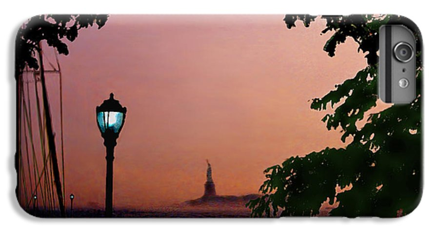 Seascape IPhone 7 Plus Case featuring the digital art Liberty Fading Seascape by Steve Karol