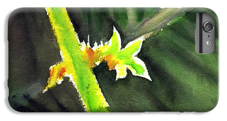 Water Color IPhone 7 Plus Case featuring the painting Light Branch by Anil Nene
